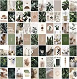 ANERZA Wall Collage Kit Aesthetic Pictures, Room Decor for Bedroom Aesthetic, Posters for Room Aesthetic, Cute Boho Plants Photo Wall Decorations for Teen Girls, Dorm Trendy Wall Art (70 pcs)