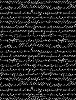 My Big Fat Journal Notebook Scribbly Handwriting White On Black: Jumbo Sized Ruled Notebook Journal - 300 Plus Lined and Numbered Pages With Index For ... by 11 Size (Jumbo Lined Journal) (Volume 62)