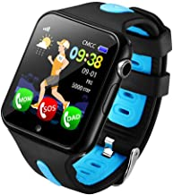 Fan-Ling 1PCS Kids GPS Smartwatch,1.44 inch Anti-Lost Smart Watch for Children Girls Boys,Multifunction Smartwatch,GPS Tracker Watch,Support Music,Weather Report (D)
