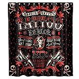 ZLWSSA 3D Wasserdicht Duschvorhang Vintage Punk Style Tattoo Piraten Seemann Schädel Lustiges Thema Stoff Tattoo 180x200cm