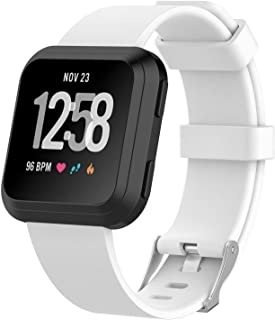 TERSELY Band Strap for Fitbit Versa 2/1 / Versa Lite, Classic Soft TPU Replacement Silicone Sports Adjustable Bands Fitnes...