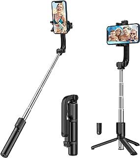Yoozon Selfie Stick Tripod Bluetooth, Extendable Phone Tripod Selfie Stick with Wireless Remote Shutter for iPhone Xs MAX/...