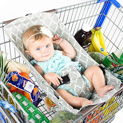 BINXY BABY Shopping Cart Hammock | The Original | Holds All Car Seat Models | Ergonomic Infant Carrier + Positioner