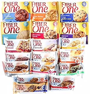 Fiber One Bars Variety Pack 18 Count. Now Includes Exclusive Stay at Home Snacks Branded Mints!