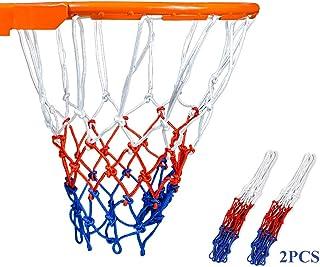 LARESDOMI 2pz Rete per Canestro da Basket 12 Anelli Nylo, Reti Professionali per Canestro da Basket, Adatte alle Dimension...