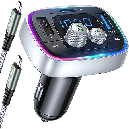 PD 18W /& QC 3.0 Auto Ladeger/ät Siri//Google Assistent Navigation Unterst/ützt Freisprechen FM Transmitter Auto Bluetooth 5.0 Bovon Bluetooth Adapter Auto mit 2021 Upgrade Mikrofon