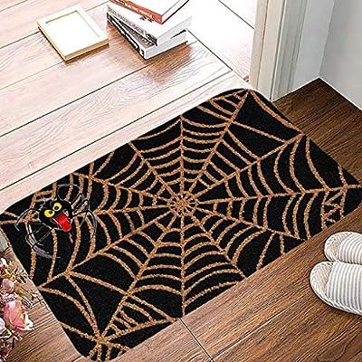 LOCOLO Indoor/Outdoor Halloween Doormat, 15.7 x 23.6 Inch, for The Halloween Spider Webs (Black-B)