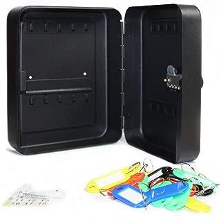 SEPOX Steel Key Cabinet Security Cabinet Box with Combination Lock - Holds 20 Keys (20 Keys, Matte Black)