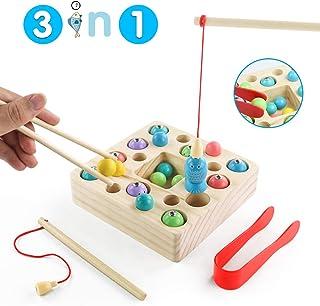 comprar comparacion jerryvon Juego De Pescar para Niños - Juguetes Montessori Bebe Madera Peces Juguete Magnetico Infantil Juguetes Educativos...