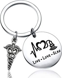 ENSIANTH Sonographer Gift Live Love Scan Keychain Ultrasound Tech Jewelry Radiologist Gift