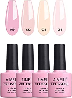 AIMEILI Soak Off UV LED Gel Nail Polish Multicolor/Mix Color/Combo Color Set Of 4pcs X 10ml - Kit Set 17