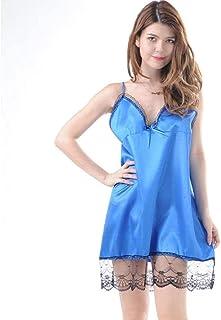 CJDM Lingerie Sexy Pyjamas pour Dames Ensemble de sous-vêtements pour Dames Pyjama Sexy en Dentelle de Satin avec Camisole...