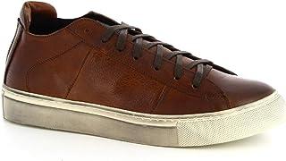 Leonardo Shoes Sneakers da Uomo Fatte a Mano in Pelle di Vitello Testa di Moro - Codice Modello: Marco/3 Vacchetta Lavata ...