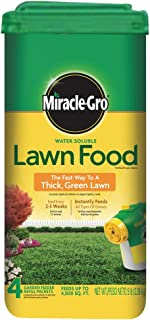 Miracle-Gro 1001833 Lawn Food Water Soluble Lawn Fertilizer (6 Pack), 5 lb