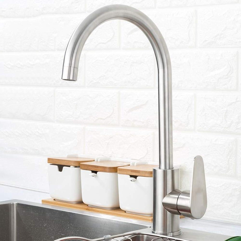 ZHFJGKR&ZL Wasserhahn 304 Edelstahl Einhand-einlochmontage Küchenarmatur Mischer Waschbecken Wasserhahn Küchenarmatur Moderne Warmes und Kaltes Wasser
