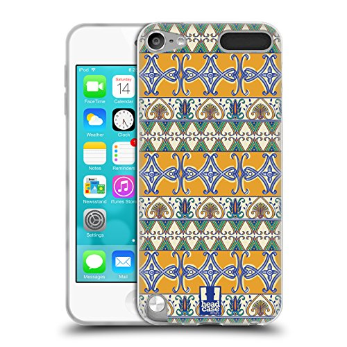 Head Case Designs Hanbemalte Keramik Majolika Drucken Soft Gel Huelle kompatibel mit Apple iPod Touch 5G 5th Gen