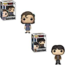 Funko POP! Televistion Stranger Things: Eleven in Snowball Dance Dress and Mike in Snowball Dance Suit Toy Action Figure - 2 POP Bundle