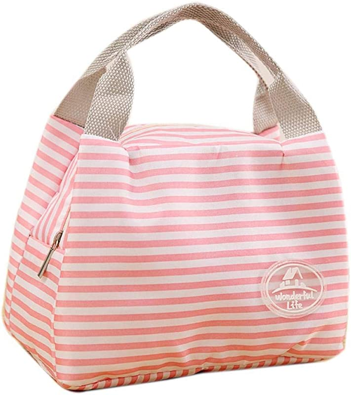 Lunch Bag Tote Bag Pouch Picnic Storage Box Lunch Bag Lunch Box Insulated Lunch Container Pink