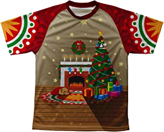 ScudoPro Christmas Fireplace Technical T-Shirt for Men and Women