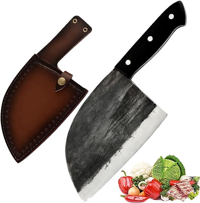 282 opinioni per Promithi Coltello da cucina giapponese, fatto a mano, coltello da macellaio,