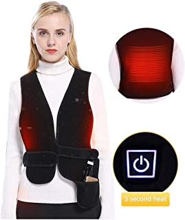 TEEAPO - USB Heated Vest for Women/Men - Adjustable Waist Size - Lightweight Heating Vest - Winter Jacket Thermal Clothing for Sports Hiking - Size Adjustable/Free Size