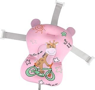 Flytande baby baddyna bomull nyfödd badkarskudde halkfri badstol sling hängmatta med 3 justerbara bältesspännen för spädba...