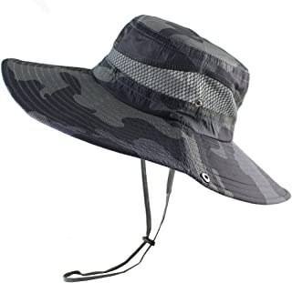 バケットハット迷彩 帽子 サファリハット UPF50+ UVカット ひも付き つば広 折りたたみ ひも付き ユニセックス サンハット