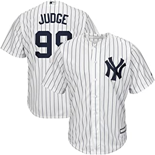 Men's New York Yankees #99 Aaron Judge Home White Navy Cool Base Player Jersey M