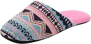 DAIFINEY Damespantoffels Boheemse stijl gesloten teen Slingback comfortabele pantoffels knuffelig thuis indoor outdoor sli...