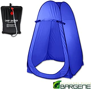 POP UP Portable Privacy Camp Shower room Tent 20L Outdoor Camping Water Bag Blue