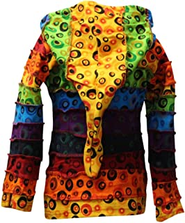 Children Pixie Colorful Hippie Striped Hoodie Hippy Boho Kids Sweater Jacket