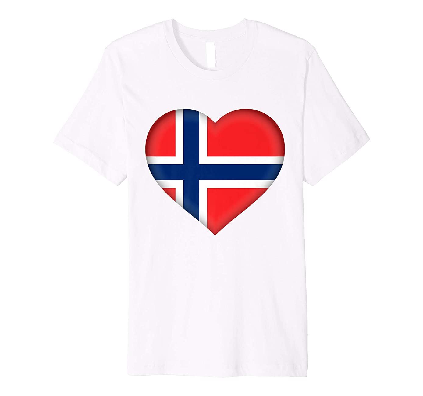 I Love Norway T-Shirt | Norwegian Flag Heart Outfit