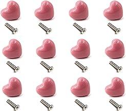 12 Stks Keramische Lade Knoppen Hartvorm Handvat Pull voor Keuken Knoppen Kinderkamer Kasten Kasten Speelgoed Organizer Bo...