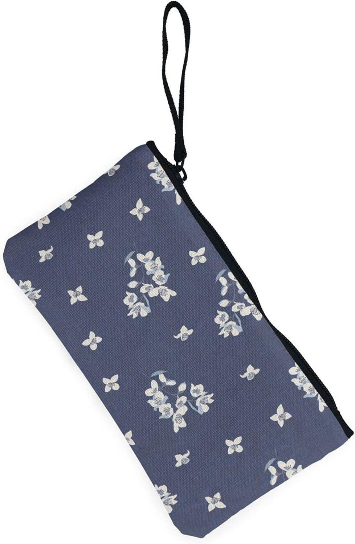 AORRUAM Wind chime blue Canvas Coin Purse,Canvas Zipper Pencil Cases,Canvas Change Purse Pouch Mini Wallet Coin Bag