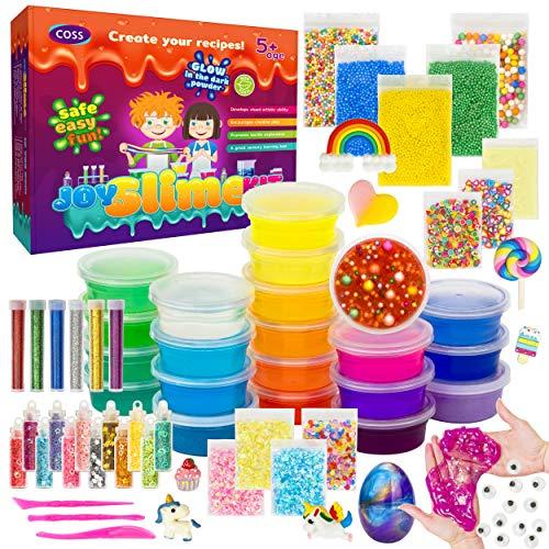 DIY Slime Kit for Girls Boys Aged 5-12 Glow in the Dark Slime Making Kit for Girls