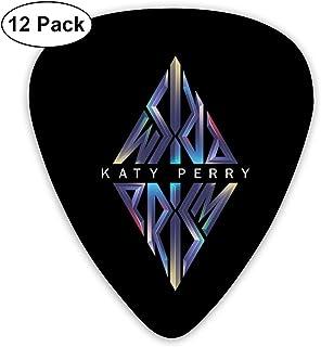 Katy Perry Prism Logo ピック ギターピック 12個入り それぞれ厚さ カラフル 12枚セット 多種多色Thin 0.46mm、Medium 0.71mm、Heavy 0.96mm 各4枚 ティアドロップピック