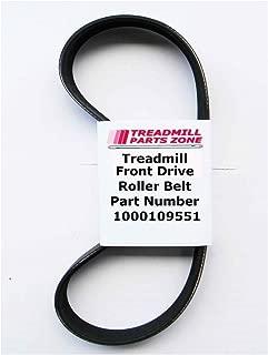TreadmillPartsZone Replacement Horizon Treadmill Model RCT7.6 TM237 Motor Drive Pulley Belt Part Number 1000109551