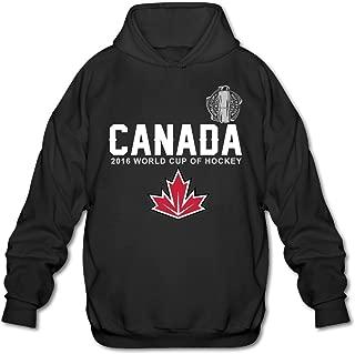 ALIMN Men's Canada Hockey 2016 World Cup Of Hockey Pride Hoodie Black