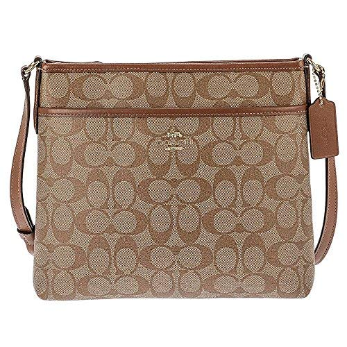 """Signature coated canvas with smooth leather details Zip-top closure, fabric lining Adjustable strap with 21 3/4"""" drop for shoulder or crossbody wear 10 1/4"""" (L) x 8 3/4"""" (H) x 2"""" (W)"""