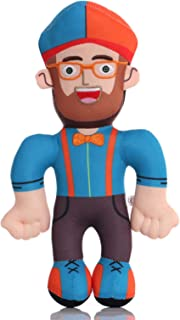 Blippi Bendable Plush Doll, Featuring Fun Details Like Eyeglasses, Bow Tie, Shoes Boys and Girls Birthday Party Gifts (Blue)