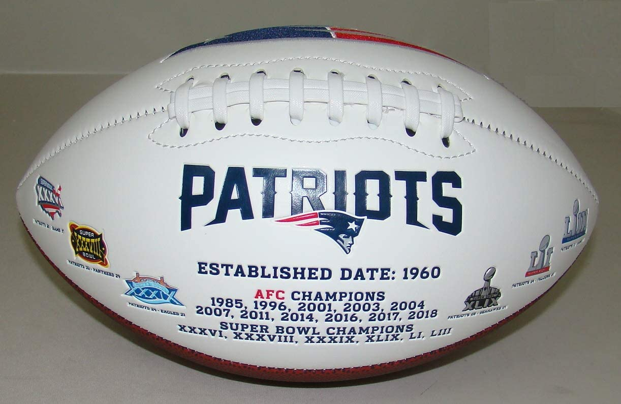 New England Patriots Embroidered Signature Series Autograph Foot