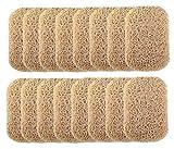 Ru S 16 Piece Soap Saver Pads, Slip PVC Dishes Soap Holder...