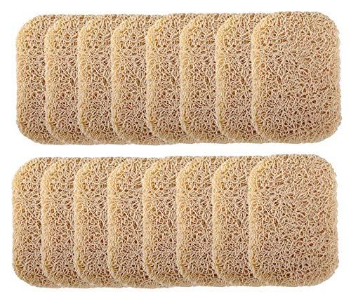Ru S 16 Piece Soap Saver Pads, Slip PVC Dishes Soap Holder Accessory, Bathroom Soap Supplies
