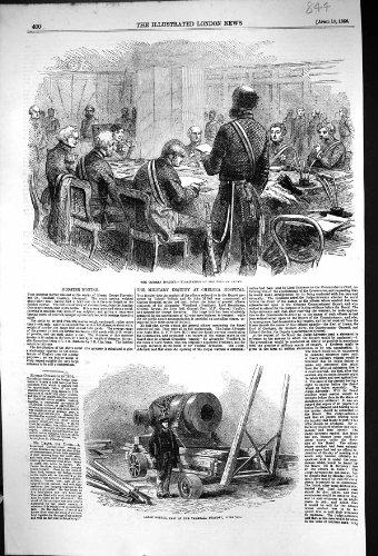 Antiker Druck von Krim-Kriegs-Untersuchungs-Prüfungs-Graf-Lucas-Mörser 1856 Vauxha…