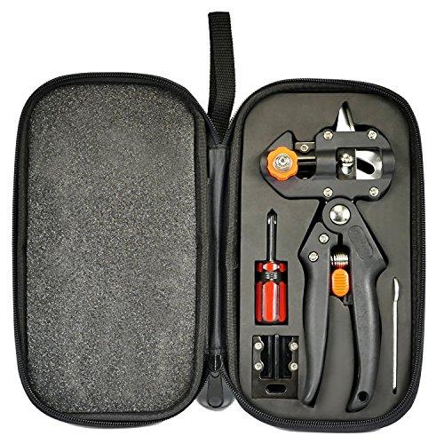 Kit d'outils de greffe-outils de coupe pour greffe de jardin,ciseaux de coupe pour greffe de branches de branches de vigne et d'arbres,lames de taille