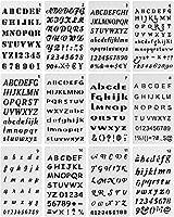NCTP 文字と数字のステンシル 文字と数字のステンシル アルファベットステンシル ノート 日記 スクラップブック 日記 グラフィティ カード クラフトプロジェクト用 12パック
