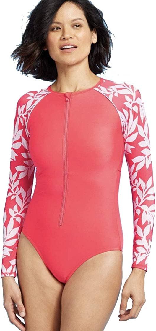 All in Motion Women's Max 61% OFF Long Sleeve Red One Latest item Flo - Rashguard Piece