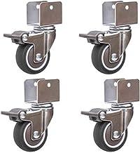 4 STUKS 2 Inch Wielen Meubels Accessoires Multiplex Rubber Universele Wielen Wieg Wieg Katrol Mute Met Rem (Kleur: C, Maa...