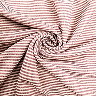 Coral B French Terry Striped Poly Rayon Spandex Fabric