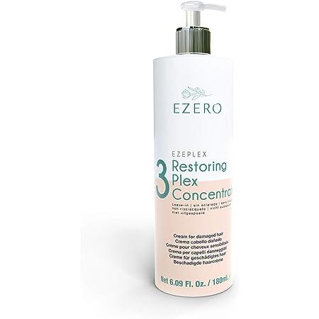 EZERO Aceite Serum Concentrate Plex para Cabellos Dañados con Aminoácidos, Ácido Hialurónico, Manteca de Karité y Aceite de Argán y Ricino - Vegano - ...